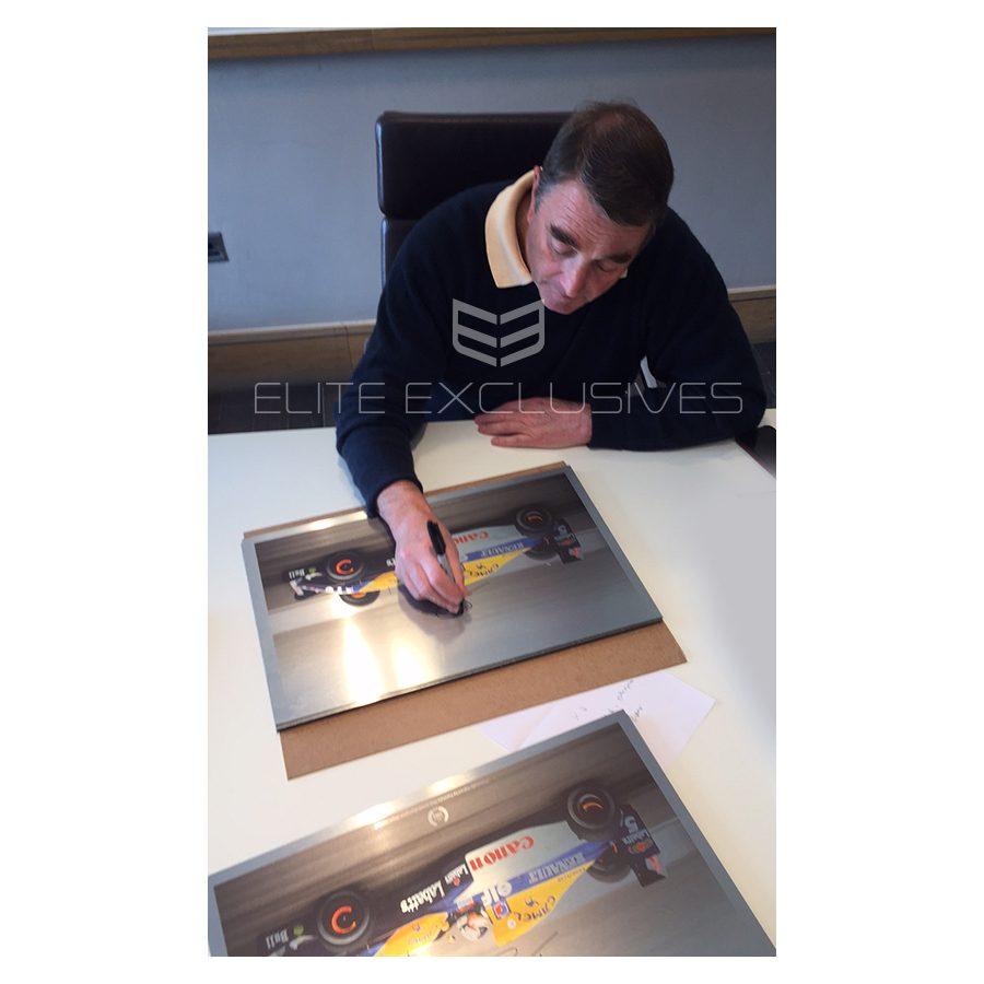 Nigel Mansell Signed Metal Print