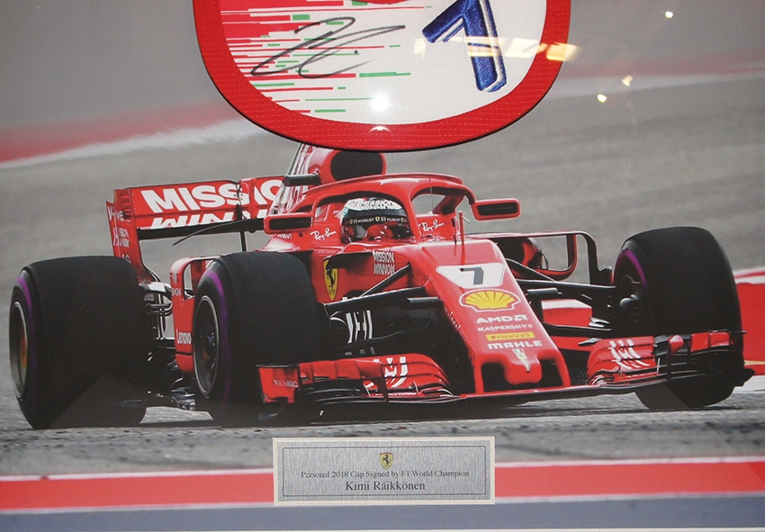 Kimi Raikkonen Signed Personal Cap
