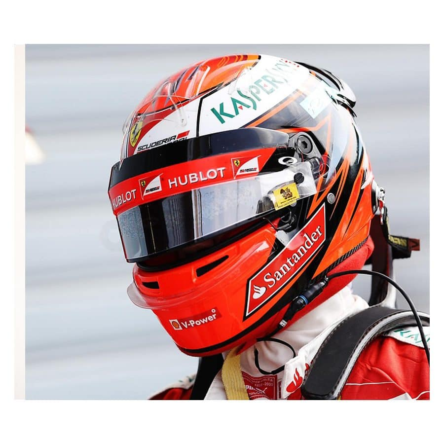Kimi Raikkonen Signed and Used Visor
