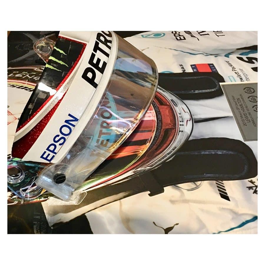 Lewis Hamilton Used 2018 Genuine Visor