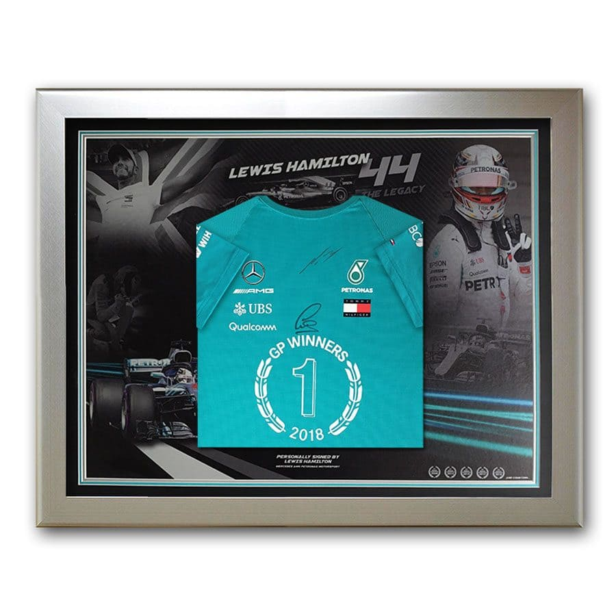 Lewis Hamilton Signed 2018 Winners Shirt