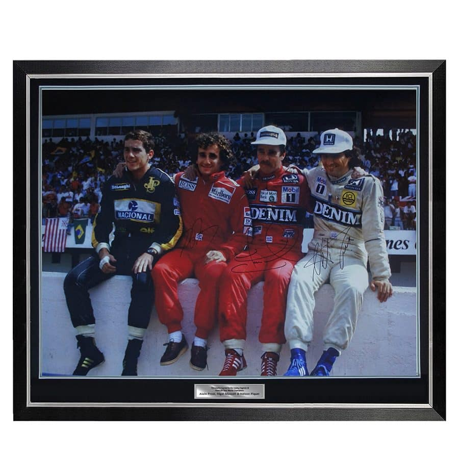 Formula 1 Signed Print – Nigel Mansell, Alain Prost, Nelson Pique