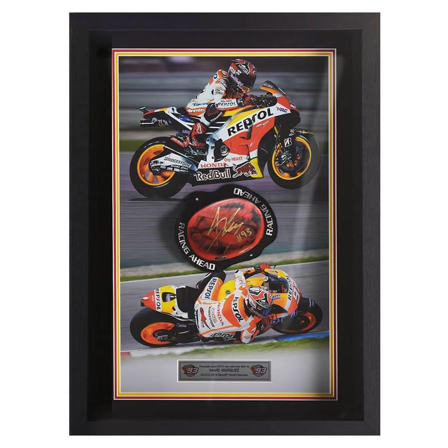 Marc Marquez Signed & Used Knee Slider