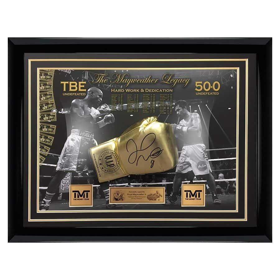 Floyd Mayweather Signed Boxing Glove