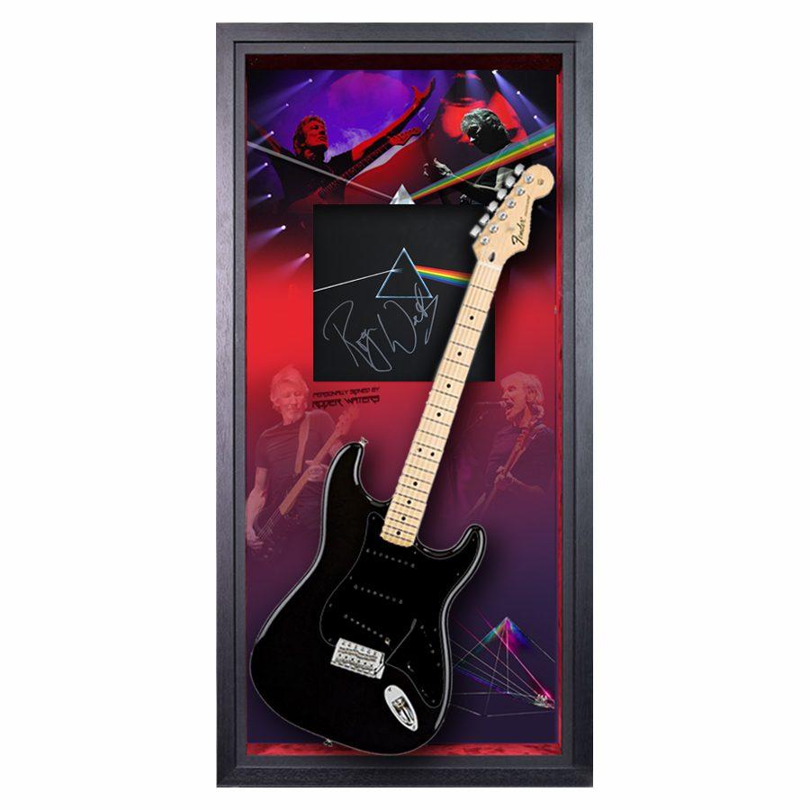Roger Waters Signed Album Guitar Display – Pink Floyd