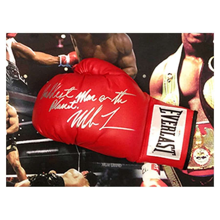 Signed Mike Tyson Glove