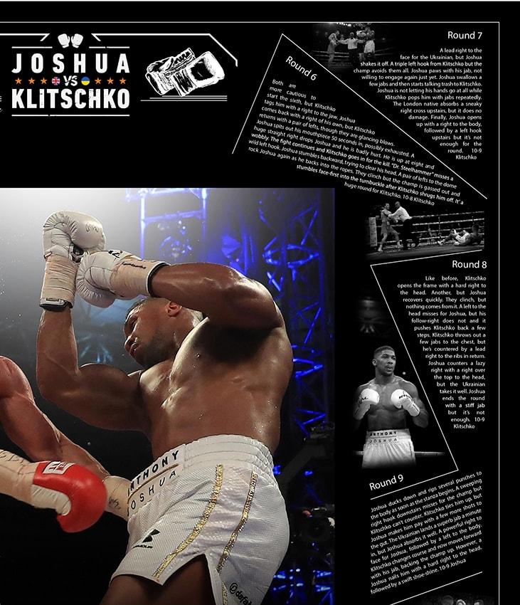 Signed Anthony Joshua Glove