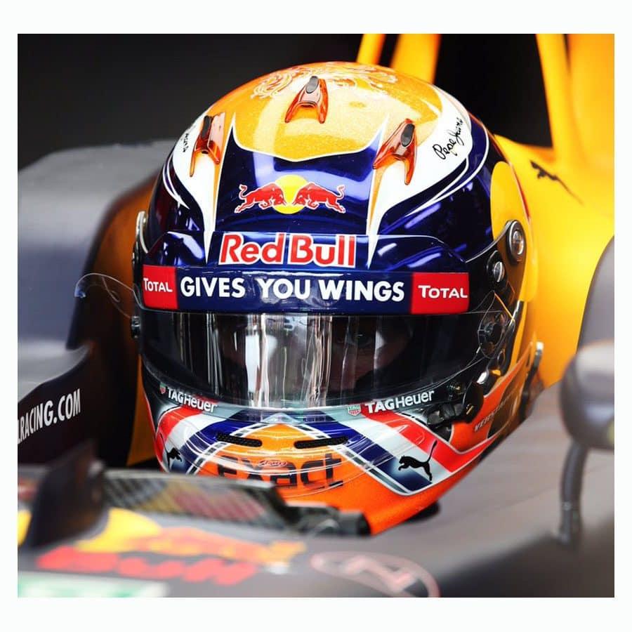 Signed Max Verstappen Helmet – Red Bull Racing