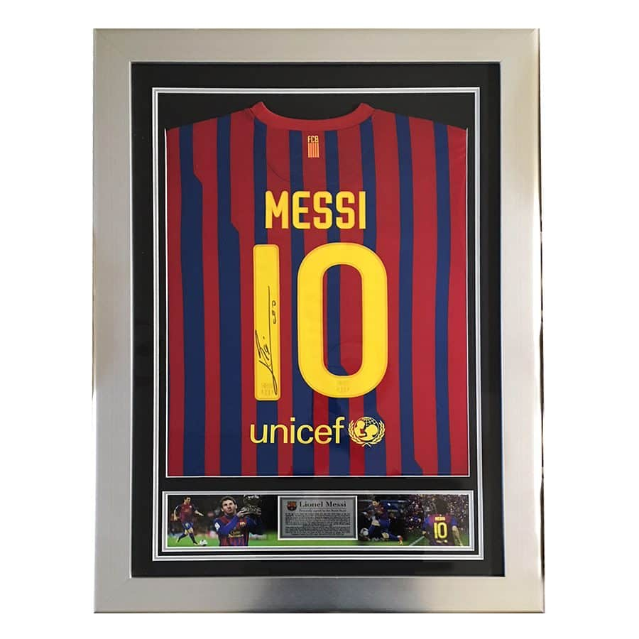 Messi Signed Shirt 2012