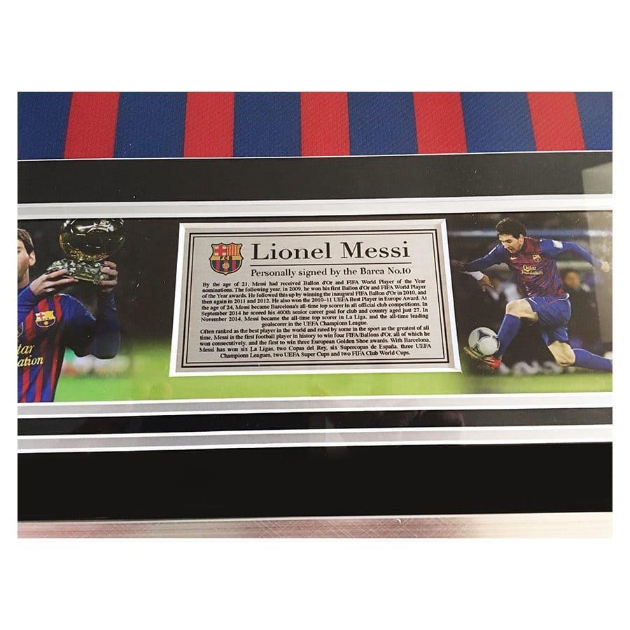 Messi Signed Shirt 2012