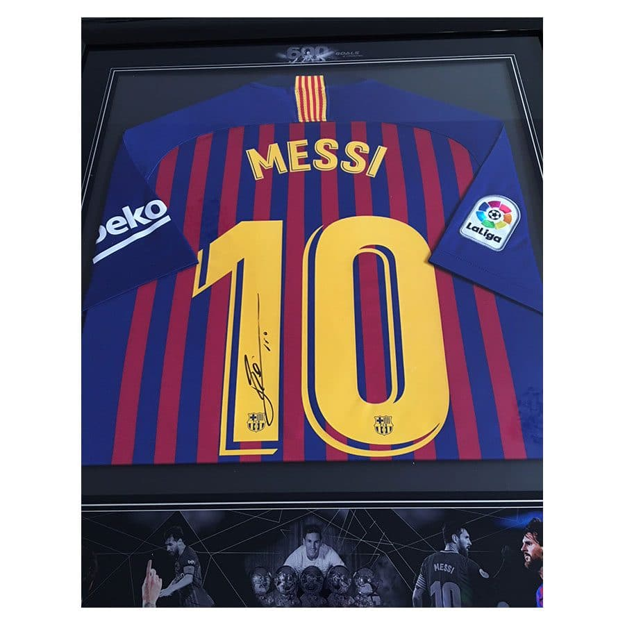 best loved c2a60 3cc06 Lionel Messi Signed 2019 Shirt