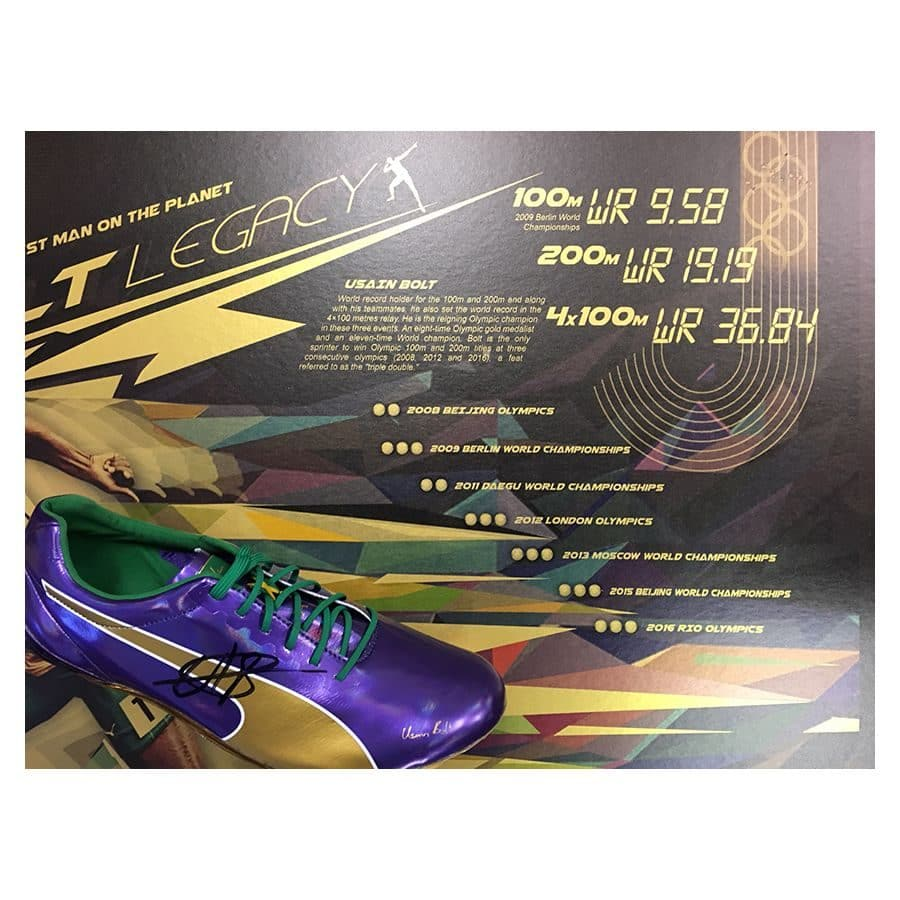 Usain Bolt Signed Puma Legacy Running Shoe