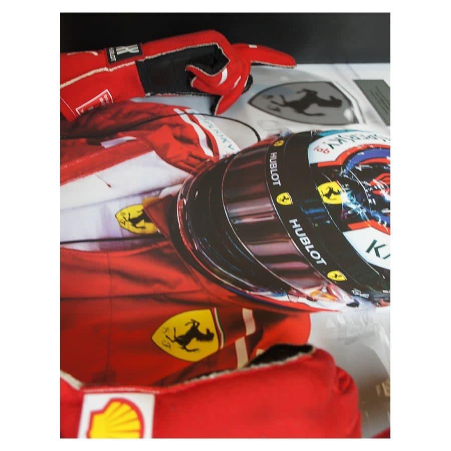 Kimi Raikkonen Used & Signed Ferrari Gloves 2018