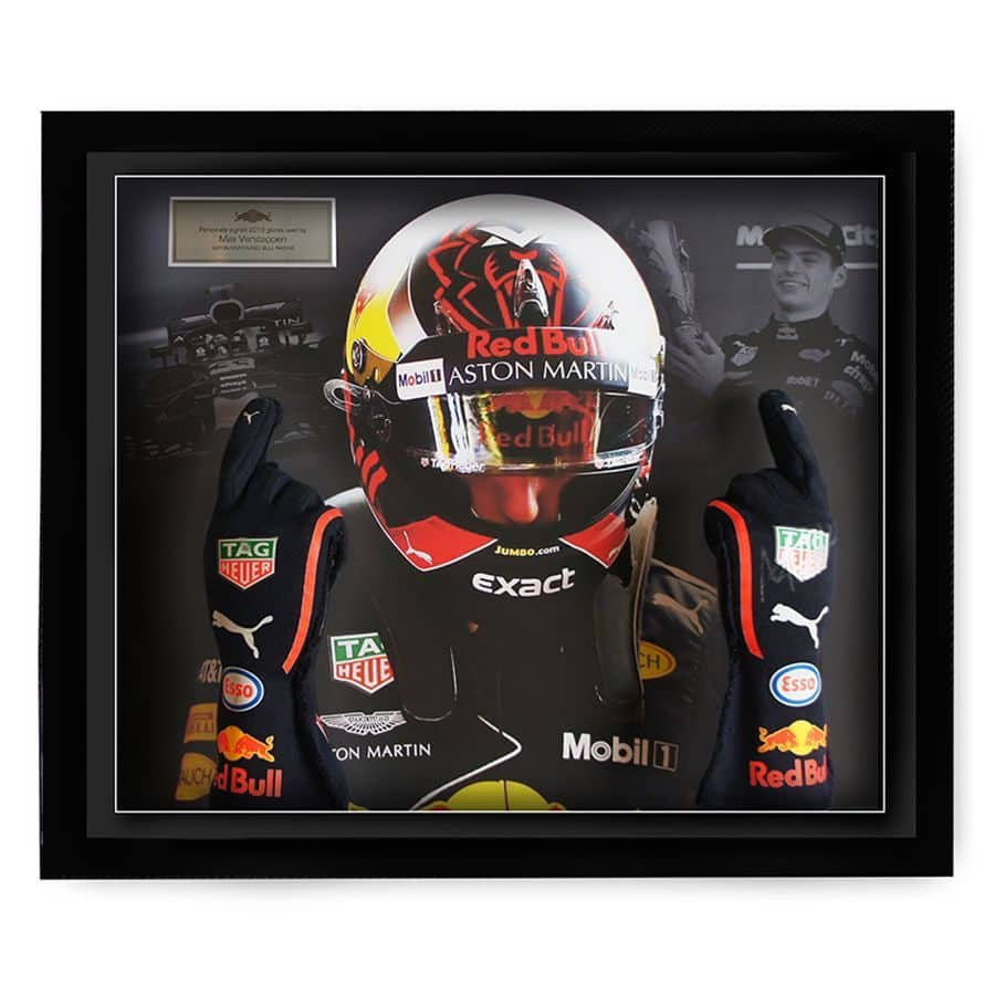 Max Verstappen Used & Signed Gloves 2018