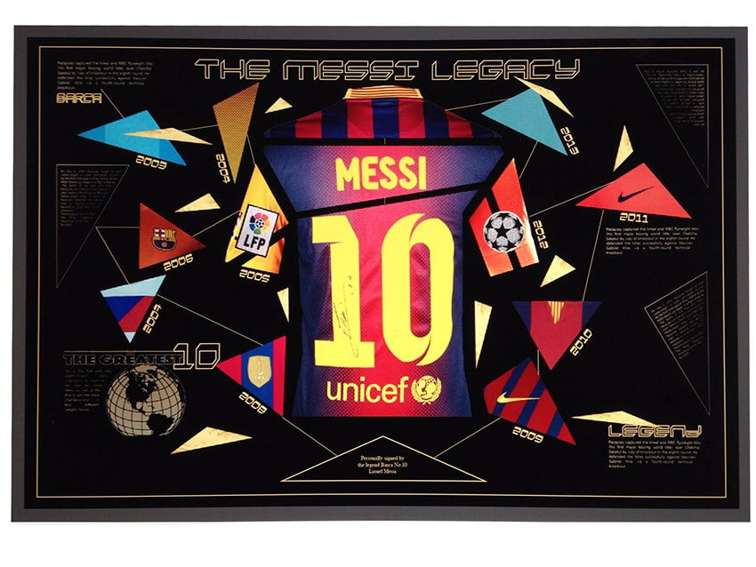 Lionel Messi Signed Shirt – The Elite Legacy Display