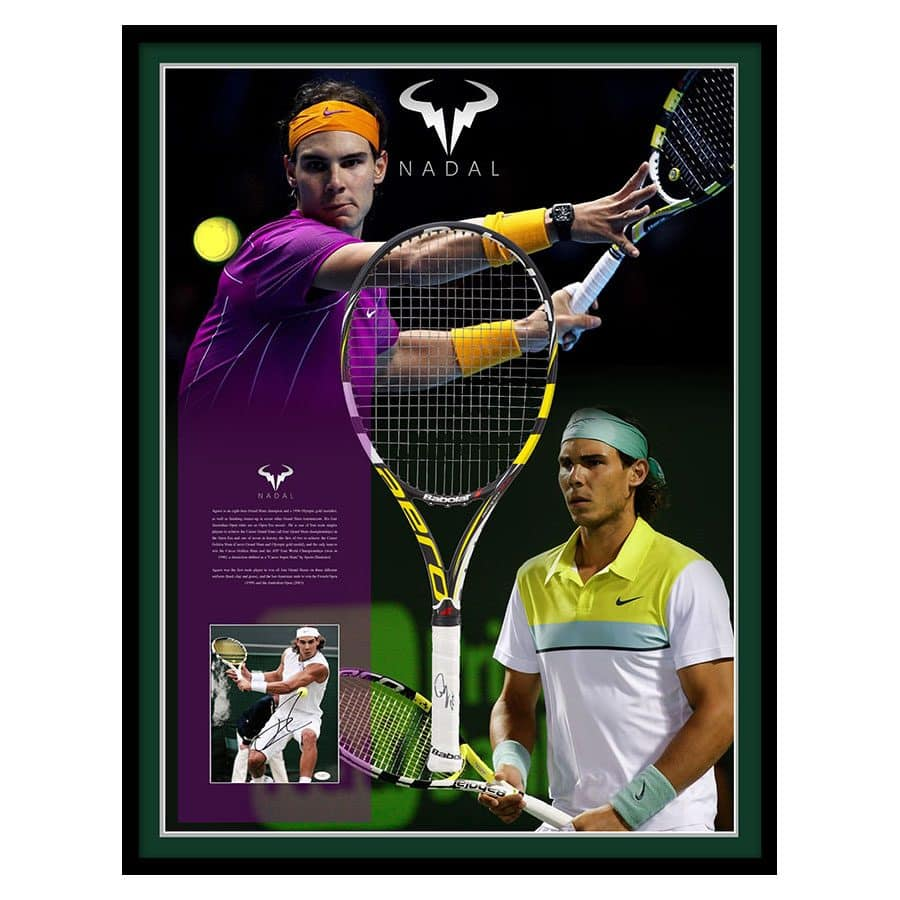 Rafael Nadal Signed Racket Display