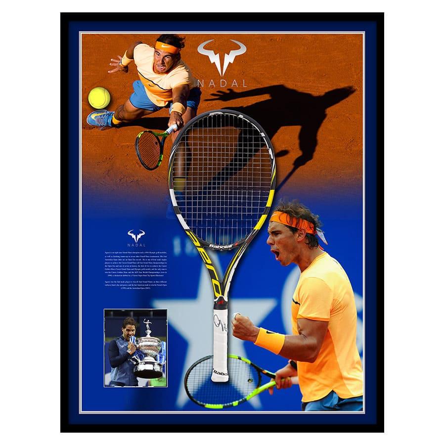 363843b69 Signed Rafael Nadal Racket Display 2