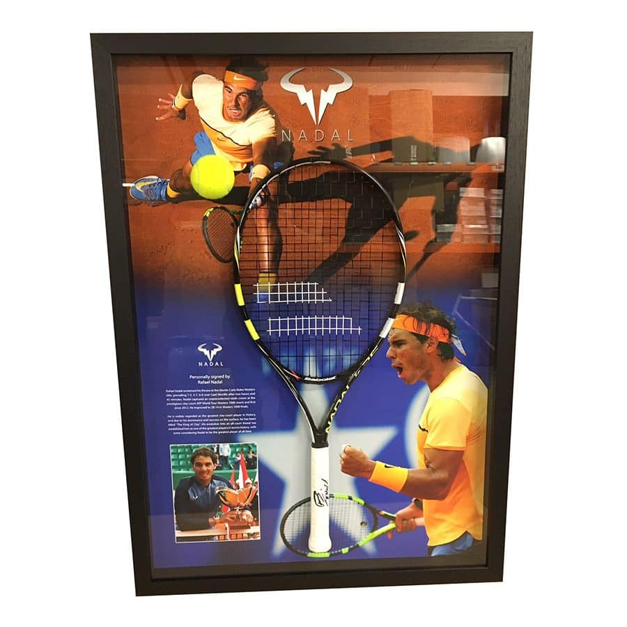 Signed Rafael Nadal Racket Display 2