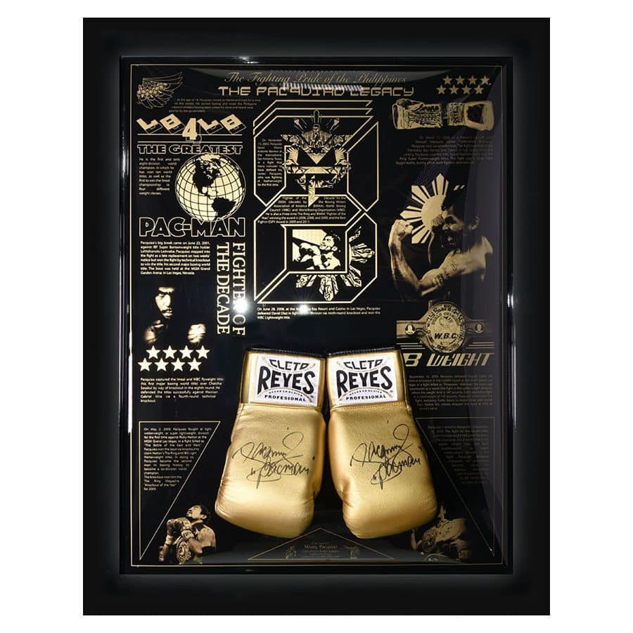 Signed Manny Pacquiao Gloves (Gold) – The Legacy