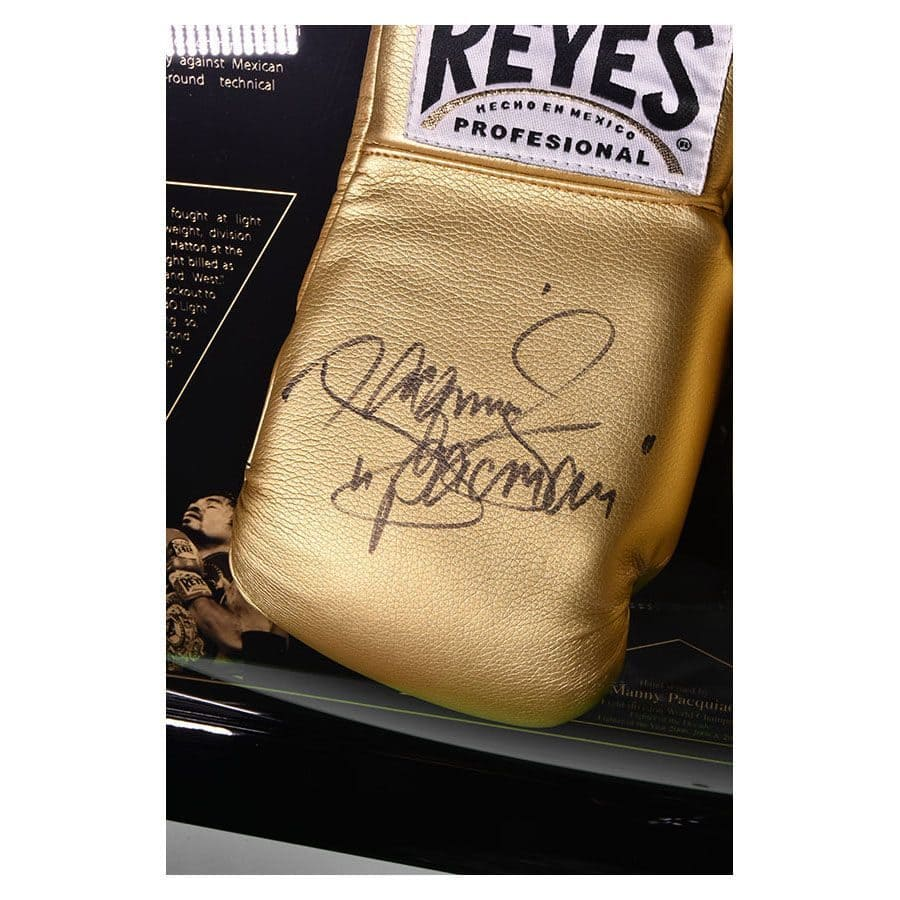 Signed Manny Pacquiao Gold Gloves - The Legacy