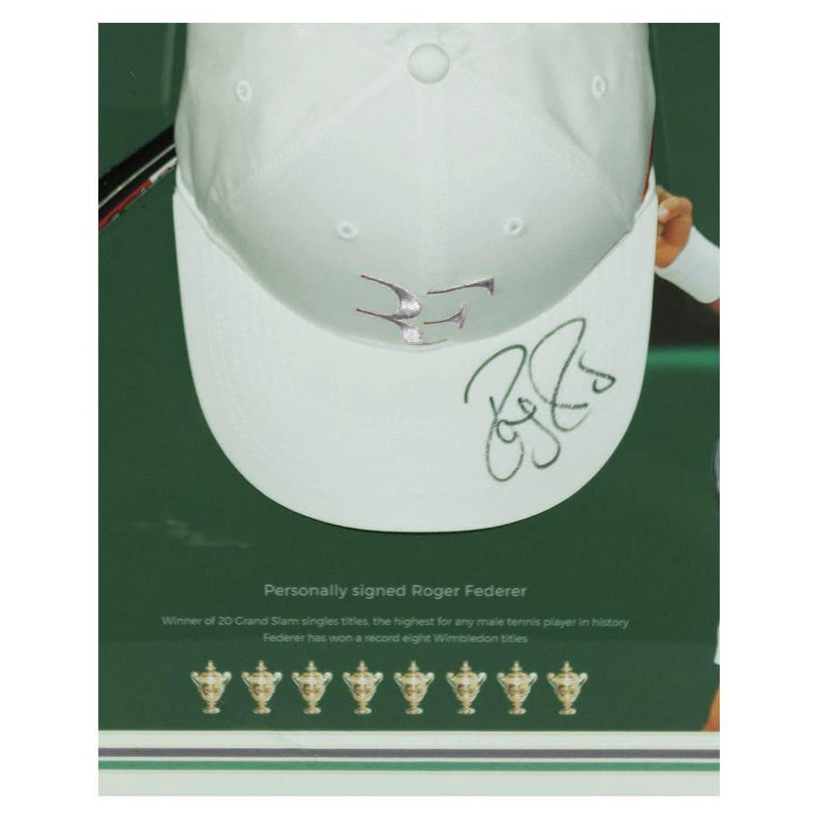 Roger Federer Signed Cap Display