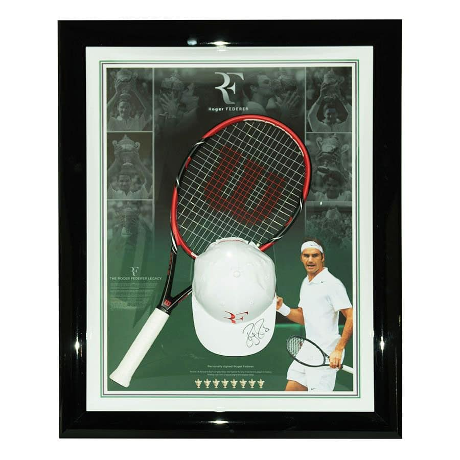 Roger Federer Signed Cap Display