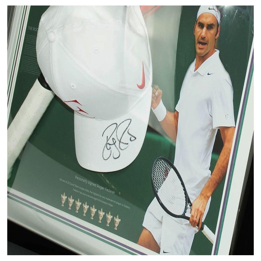202d67790 Roger Federer Signed Cap Display