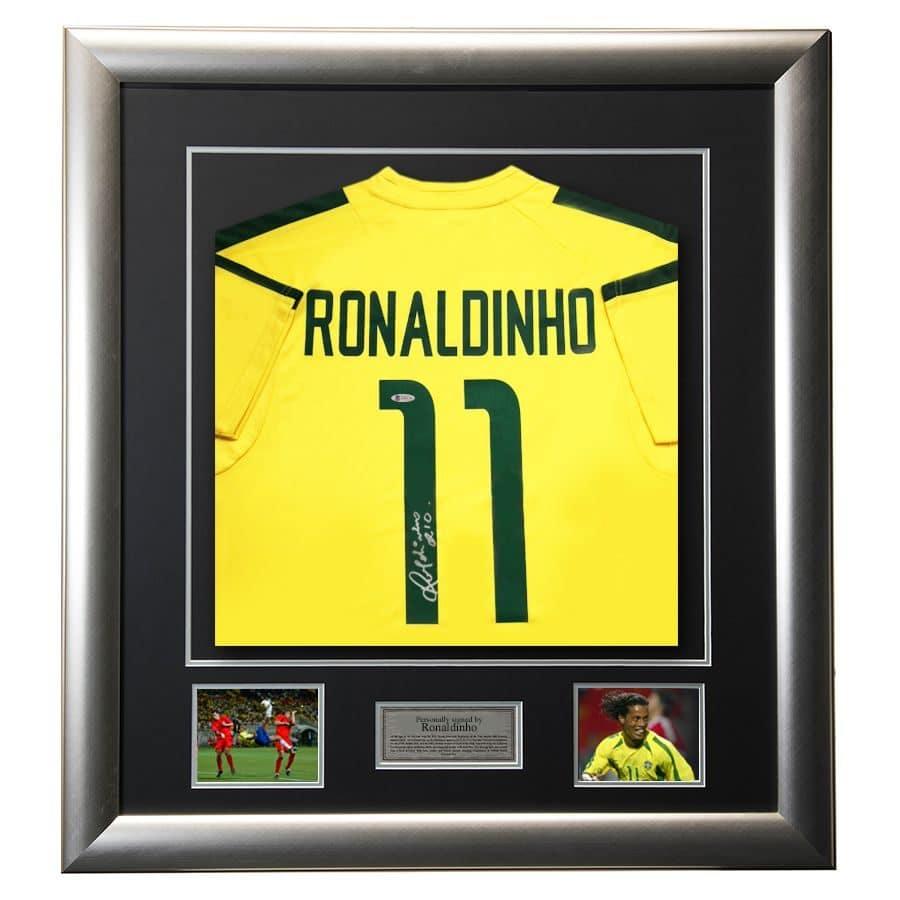 Ronaldinho Signed 2002 Brazil Shirt
