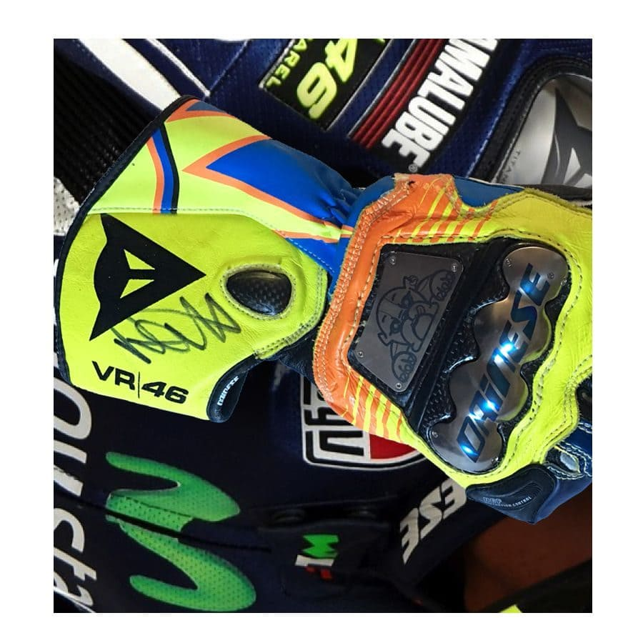 Valentino Rossi Signed Glove in Acrylic Dome - Elite Exclusives 918ae4823b0d