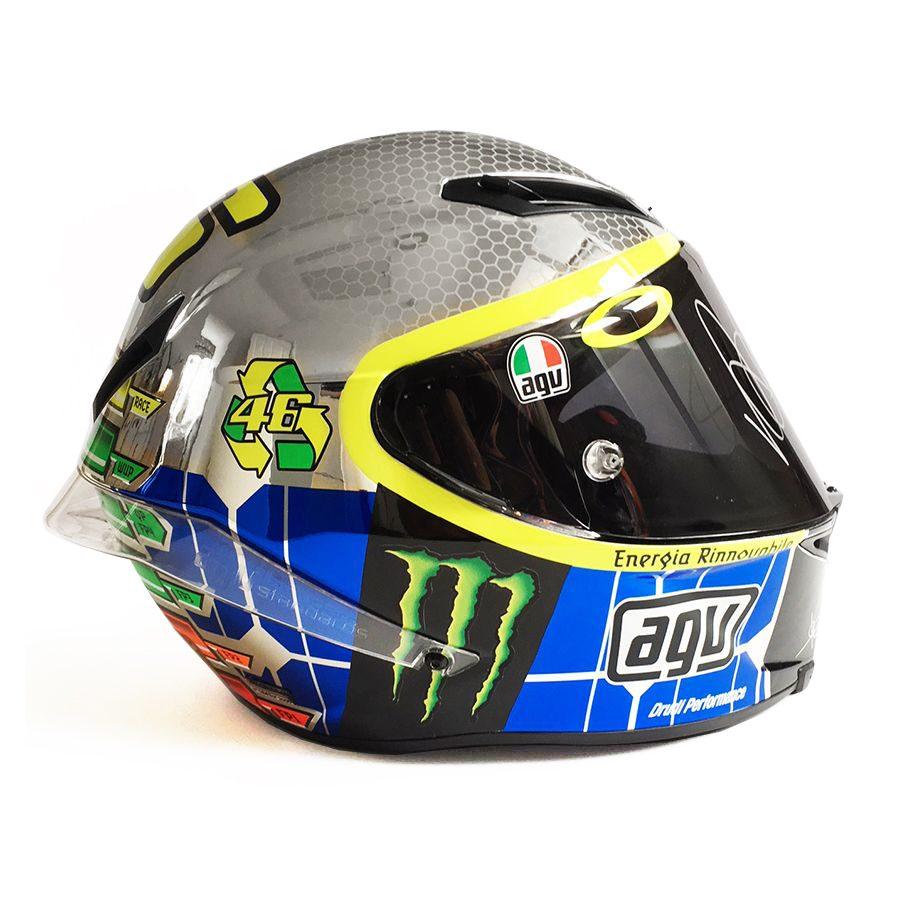 Valentino Rossi Signed Mugello Chrome AGV Helmet