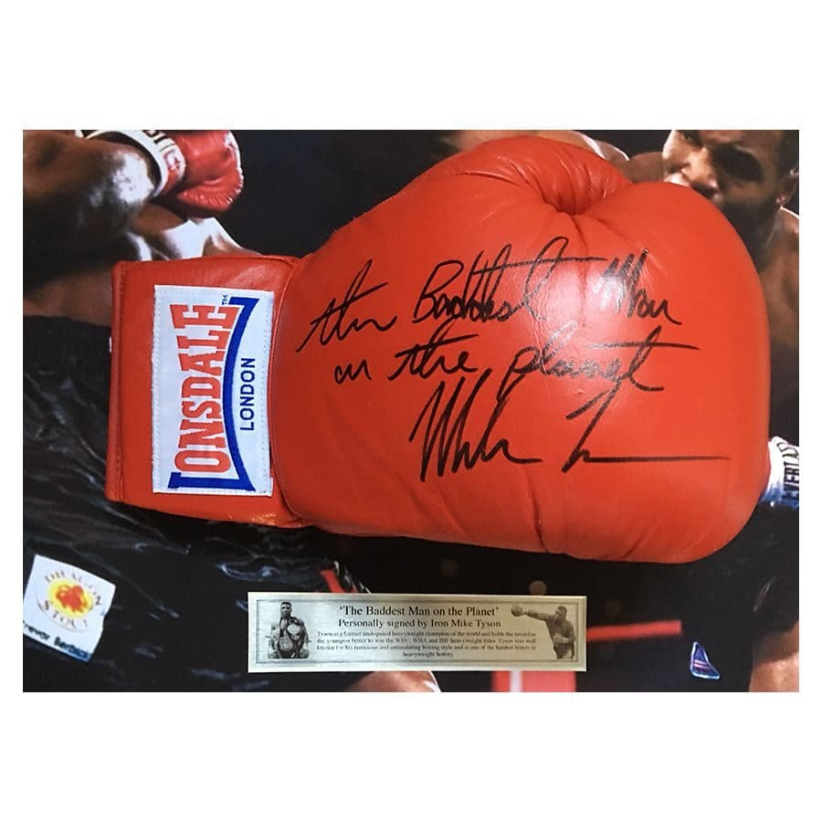 Mike Tyson Lonsdale Signed Glove