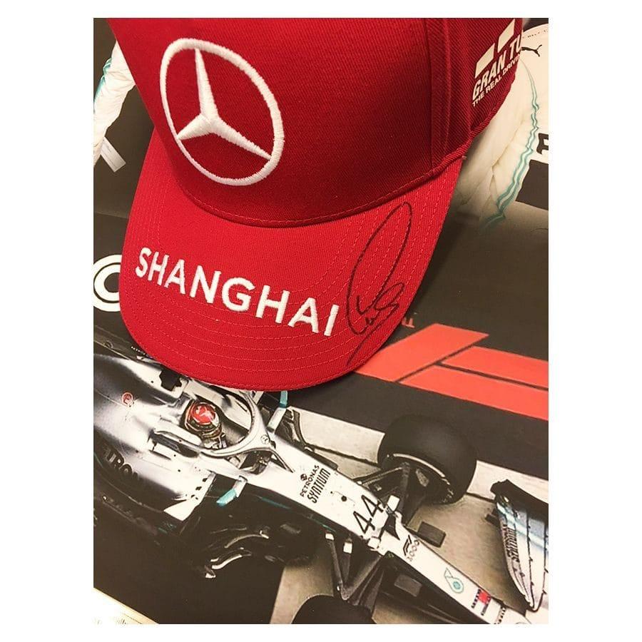 Lewis Hamilton Signed Mercedes 1000th GP Cap