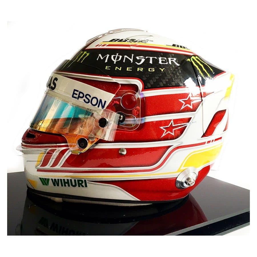 Lewis Hamilton 2018 Replica Helmet & Used Visor