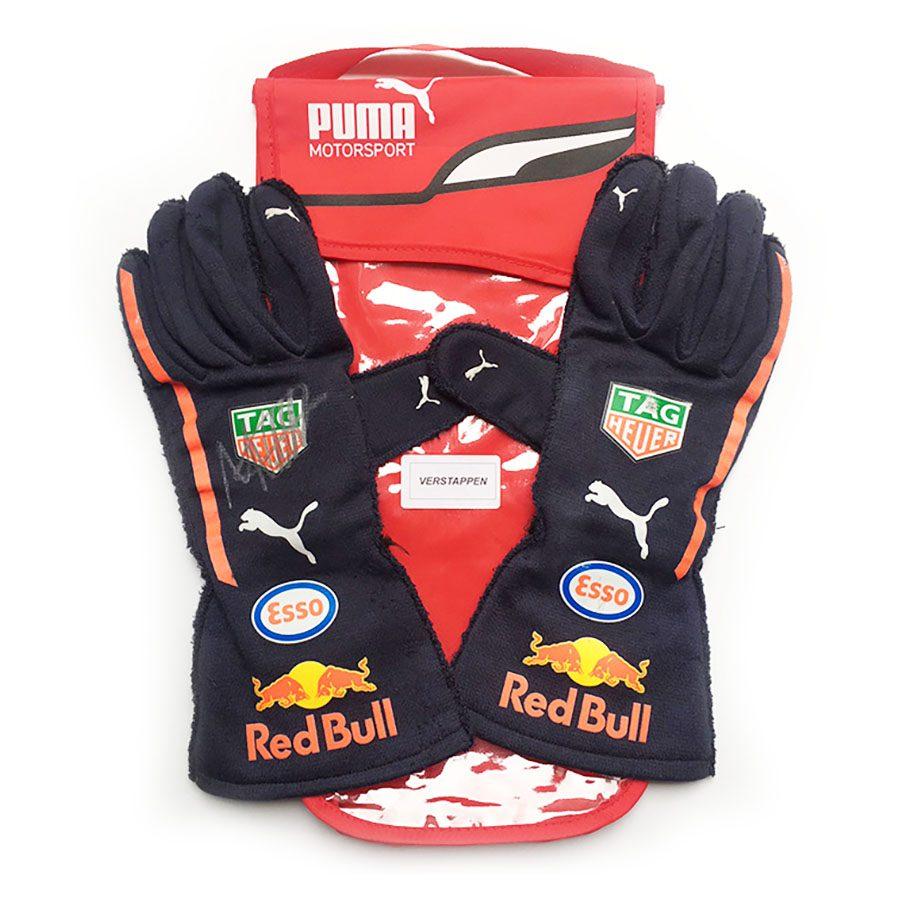 Max Verstappen Used & Signed 2018 Gloves