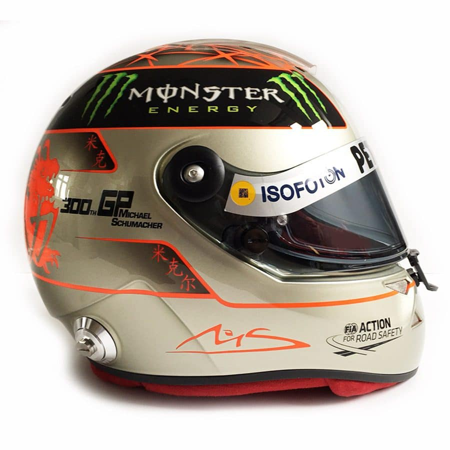 Michael Schumacher 300th GP Helmet – Mercedes F1