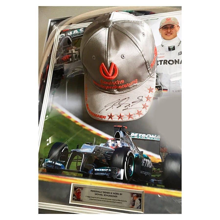 Michael Schumacher Signed Personal Mercedes Cap