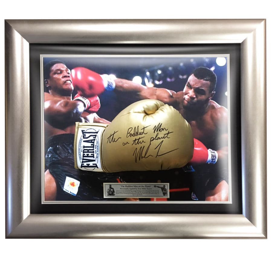 Mike Tyson Signed Gold Glove