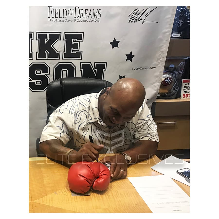 Mike Tyson Signed Red Everlast Glove