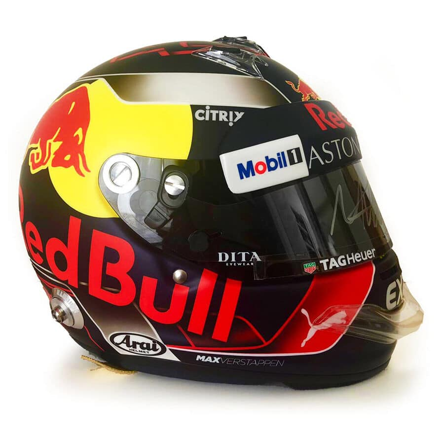 Signed Max Verstappen Helmet 2018 – Red Bull Racing