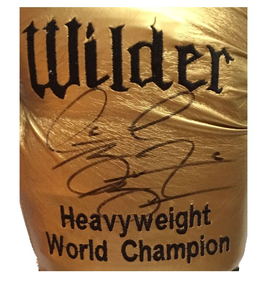 Deontay Wilder Signed Gold Glove