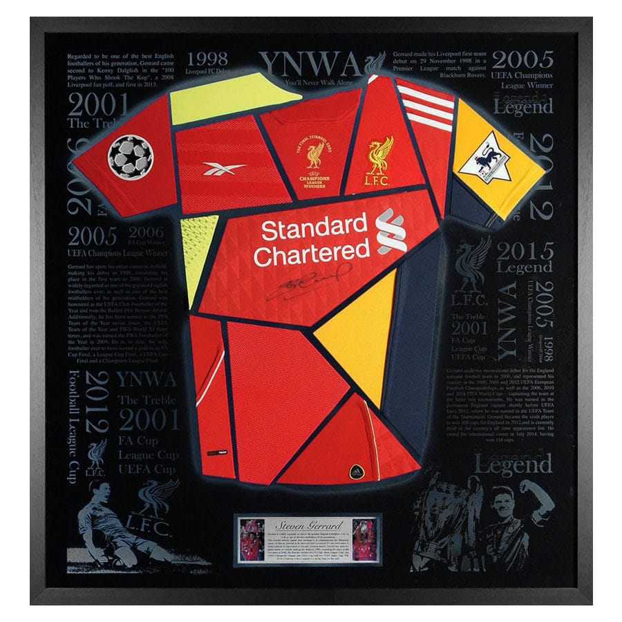 Steven Gerrard Signed Liverpool FC Exclusive Shirt Display
