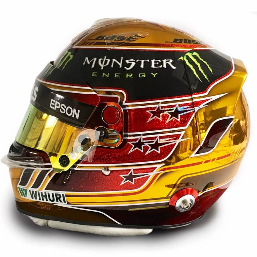 Lewis Hamilton Signed Helmet – Official Bell Abu Dhabi 2018