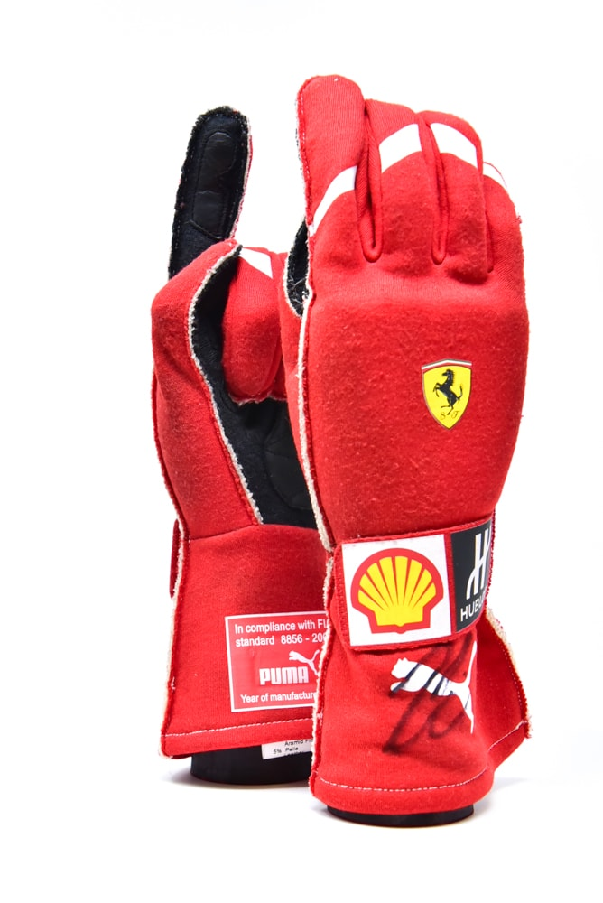 Kimi Raikkonen Signed Ferrari Gloves 2018