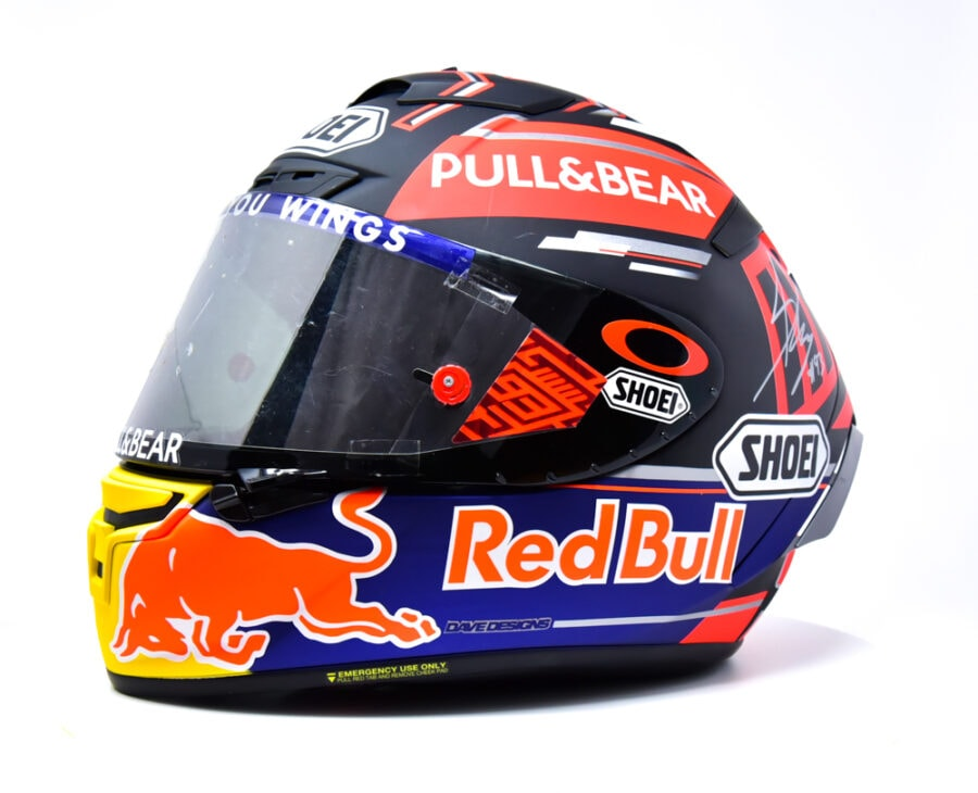 Marc Marquez Signed Helmet & Used Visor