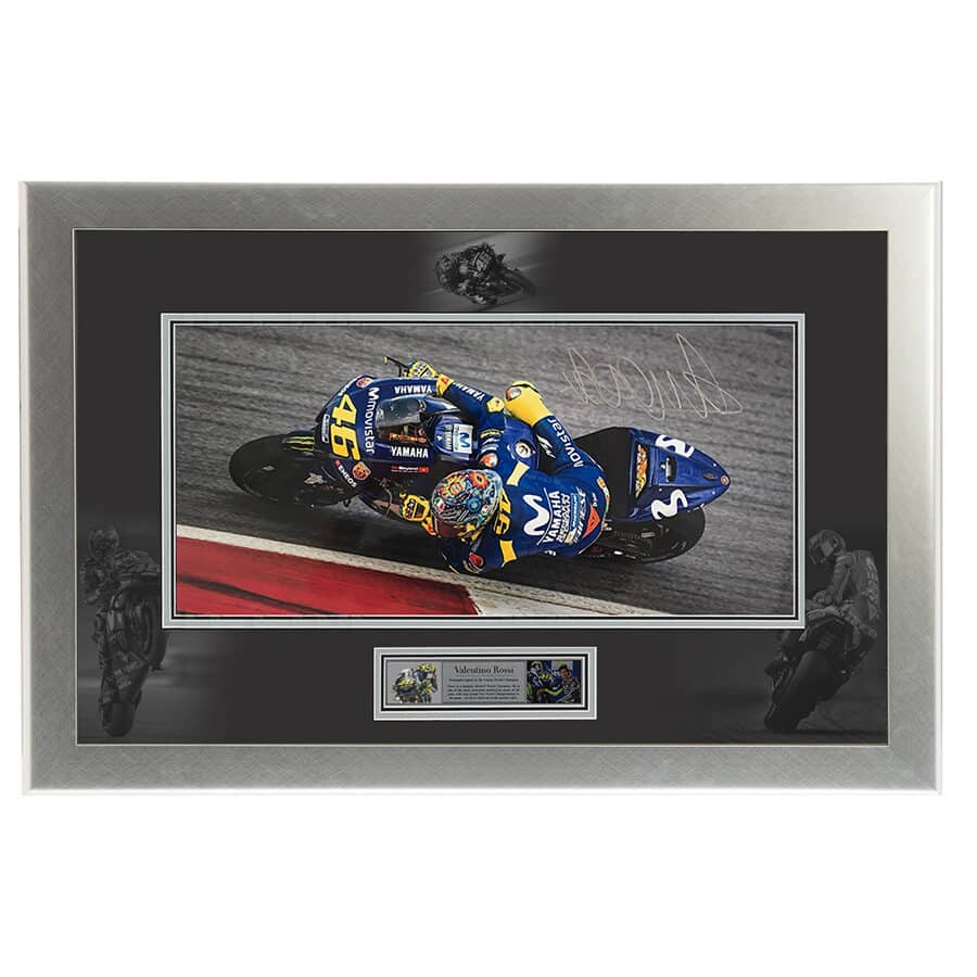 Valentino Rossi Signed Photo Display