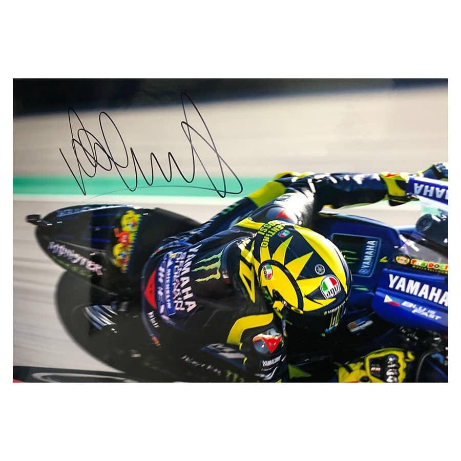 Valentino Rossi Signed Photo Display