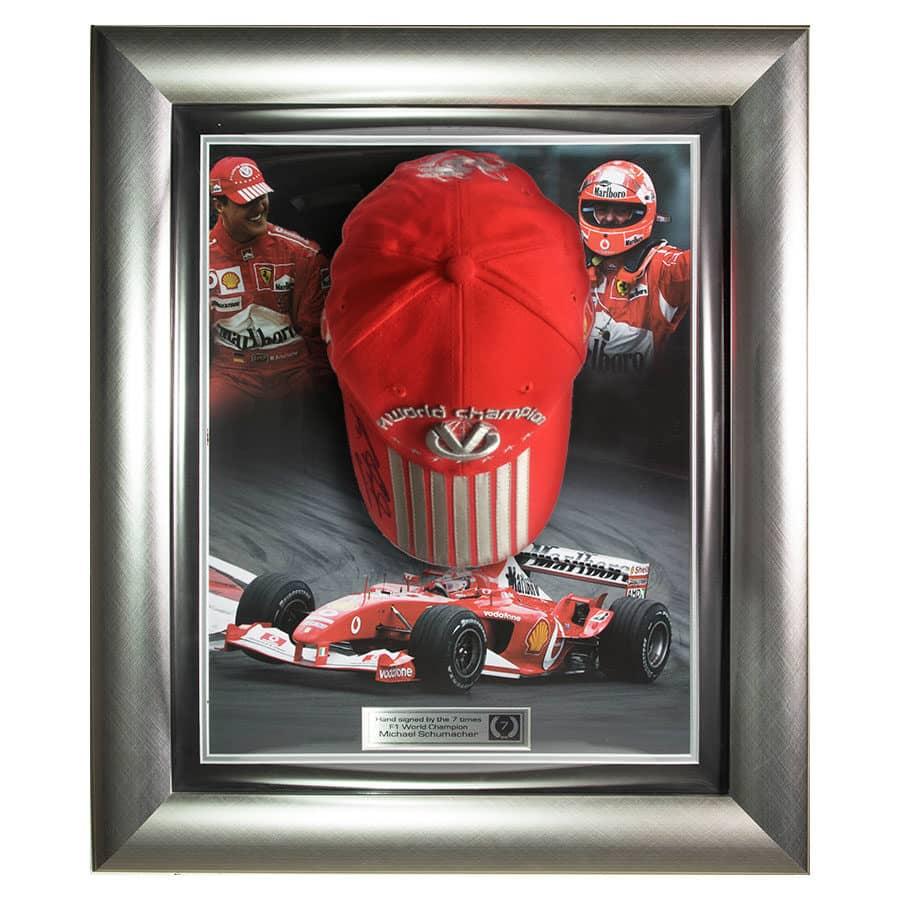 Michael Schumacher Signed Ferrari Cap