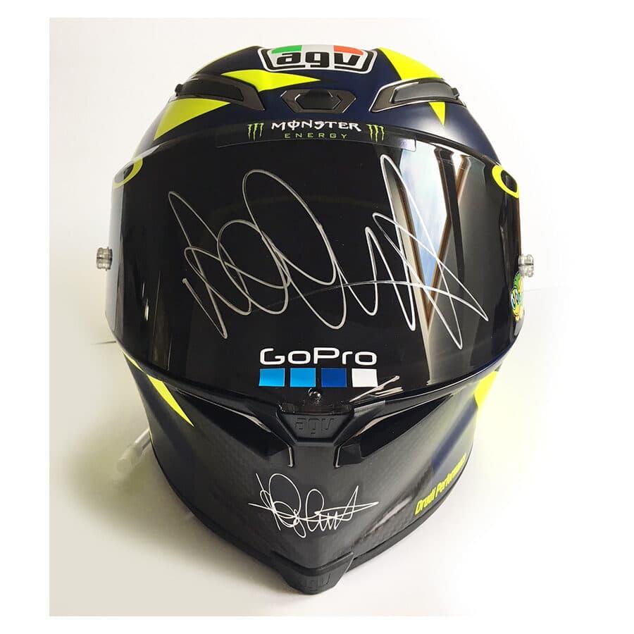 Valentino Rossi Signed 2018 Soleluna GP R Helmet