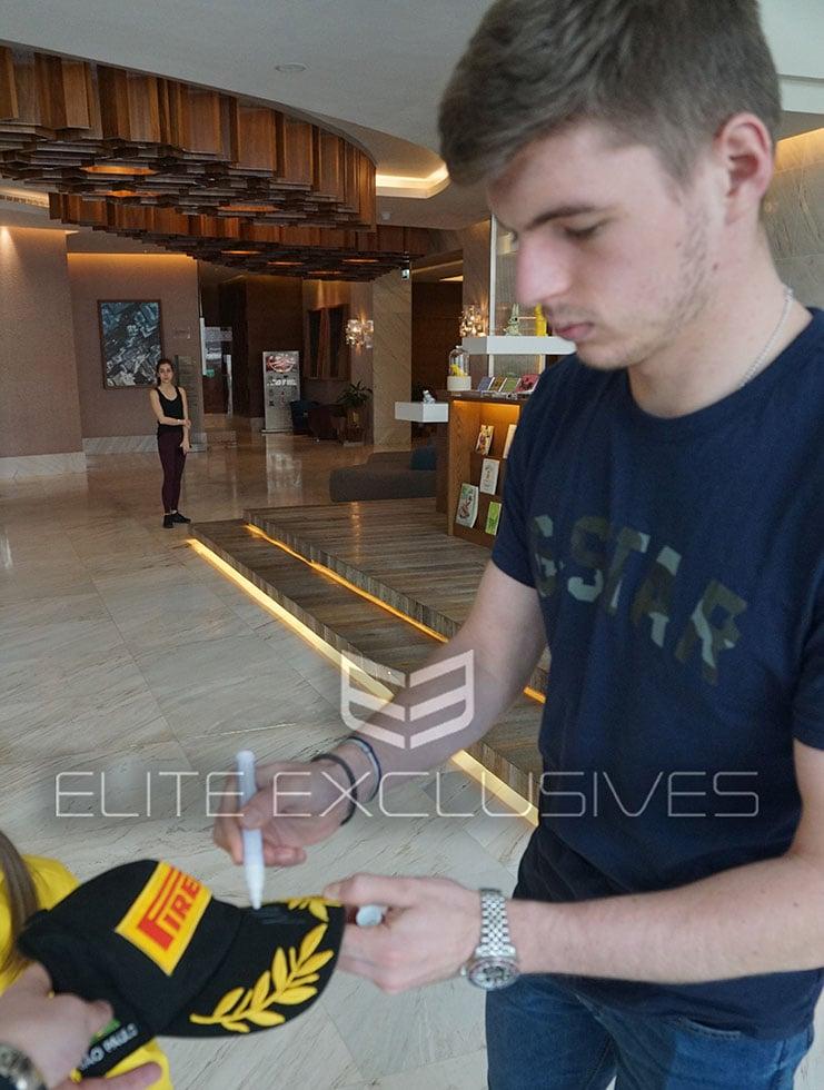 Max Verstappen Signed Brazil 2018 Podium Cap