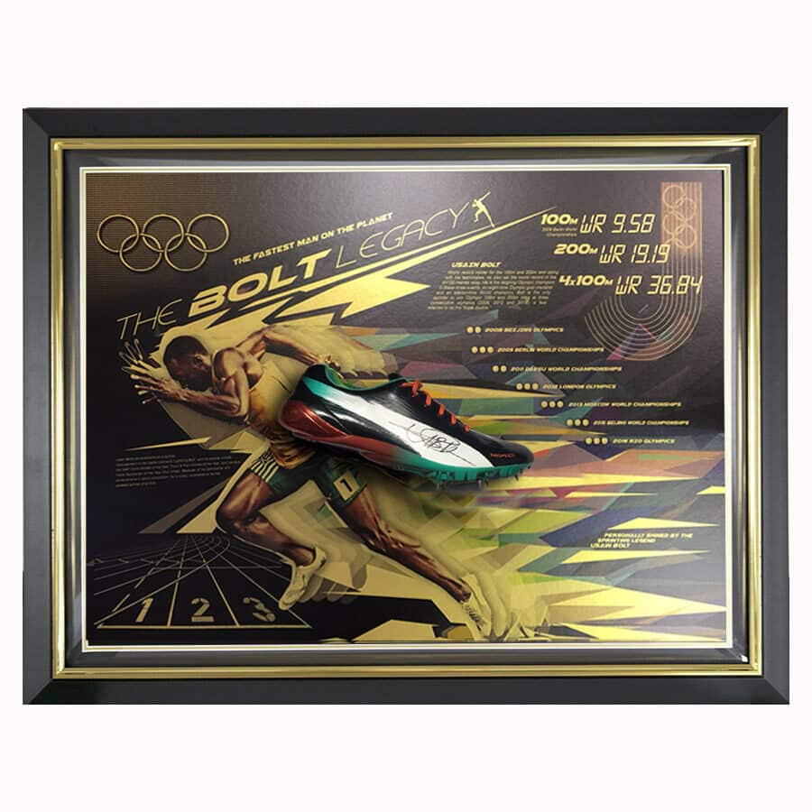 Usain Bolt Signed Puma Running Spike